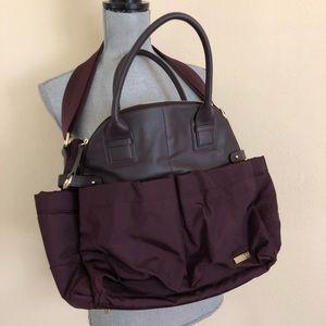 NWOT Skip Hop Chelsea Downtown Diaper Bag Burgundy
